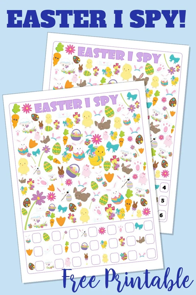 Easter I Spy Free Printable