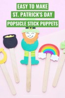 Easy to Make St. Patrick's Day Popsicle Stick Puppets