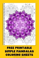 Free Printable Simple Mandalas Coloring Sheets