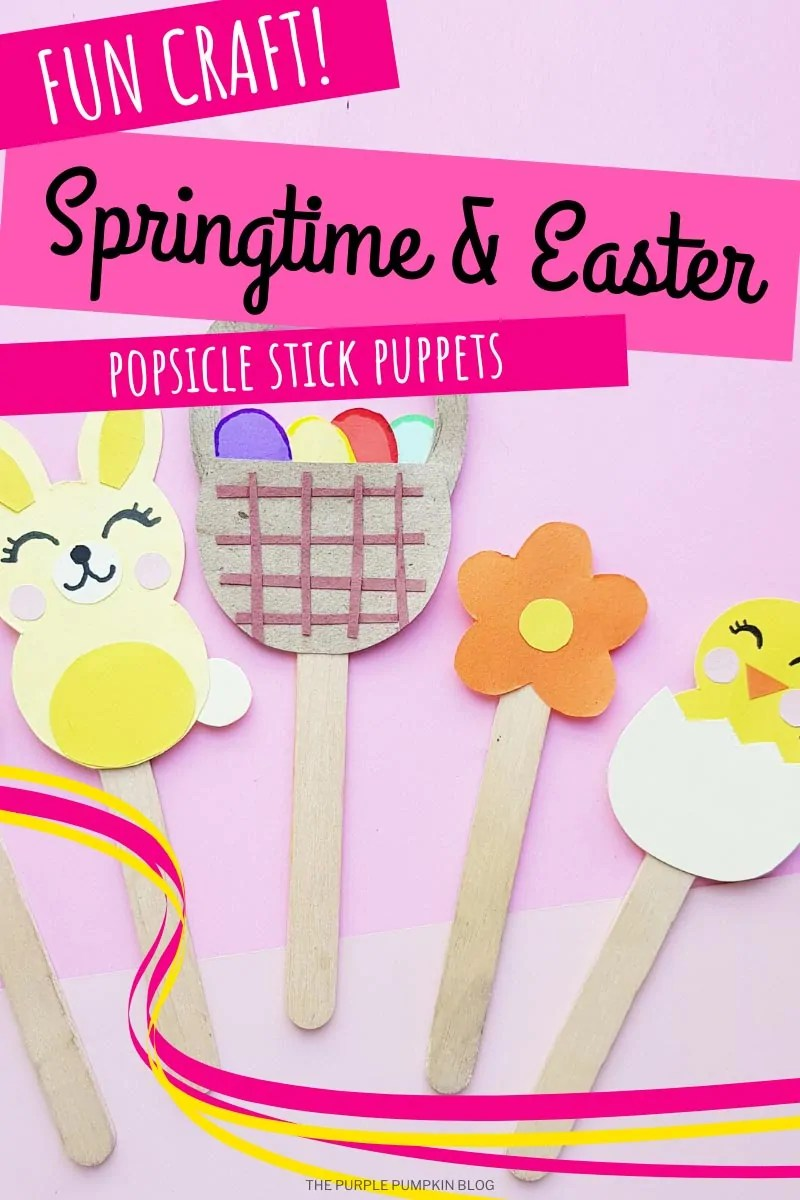 Springtime & Easter Popsicle Stick Puppets