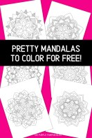 Pretty Mandalas to Color for Free