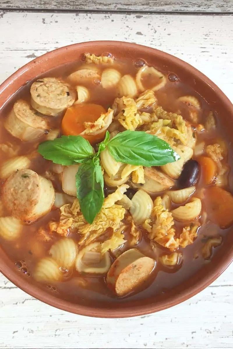 Sausage Minestrone Soup
