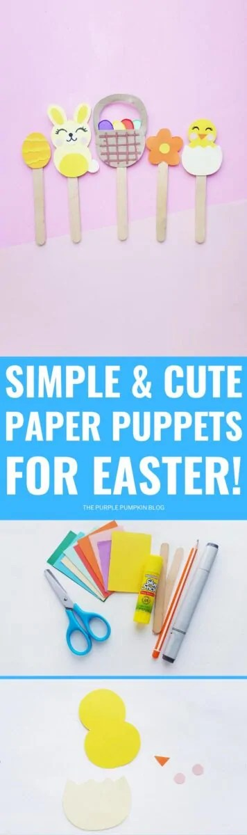 Simple & Cute Paper Puppets for Easter