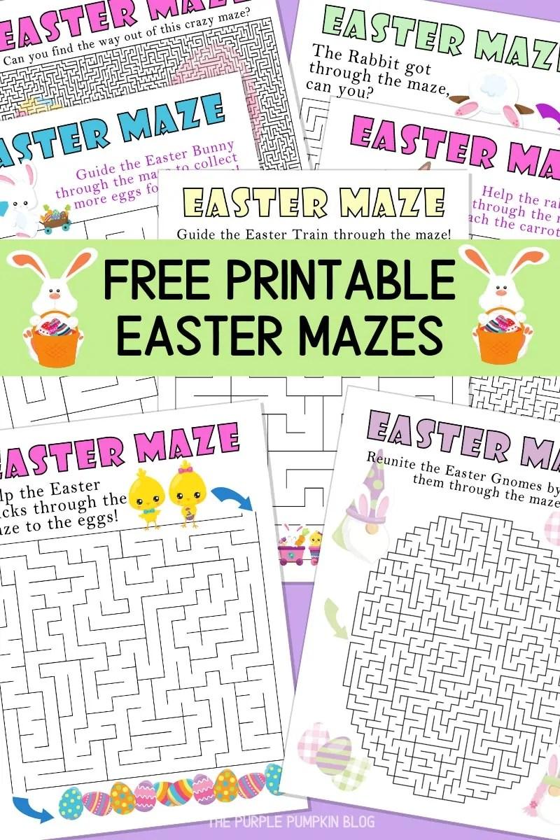 Free Printable Easter Mazes