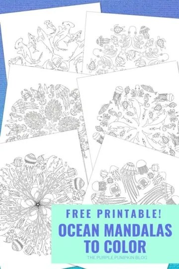 Free Printable Ocean Mandalas to Colour in