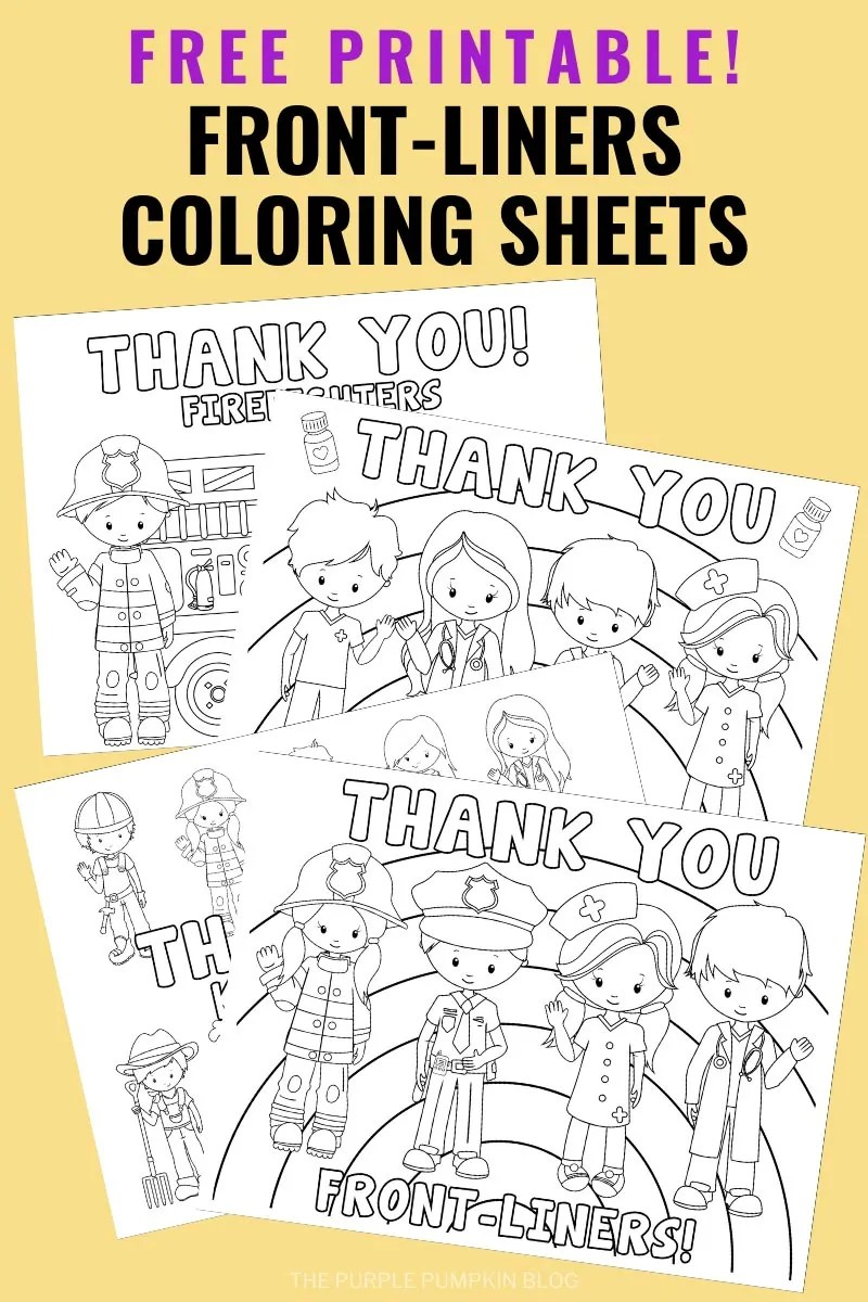 Free Printable Front-Liners Coloring Sheets