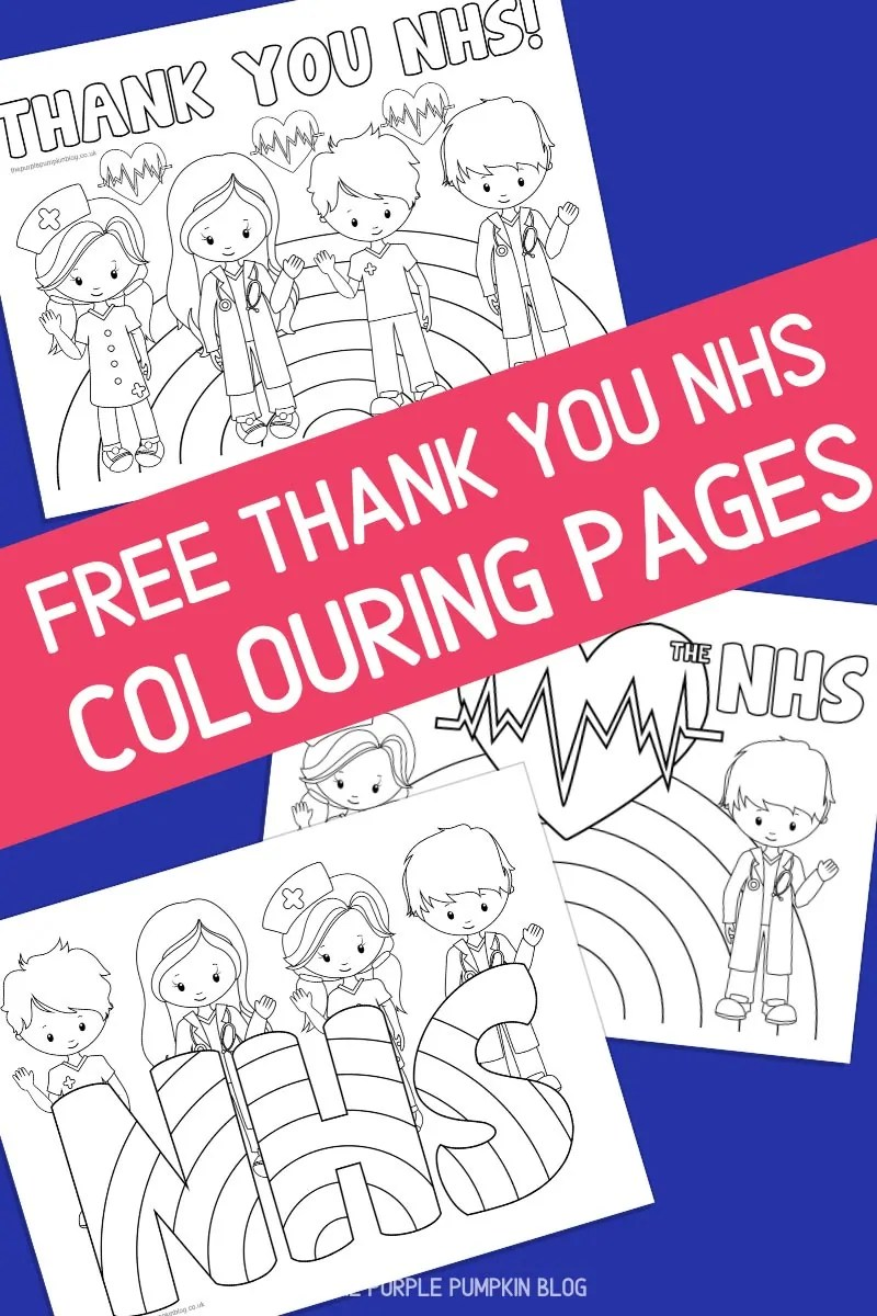 Free Thank You NHS Colouring Pages