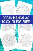 Ocean Mandalas To Color For Free