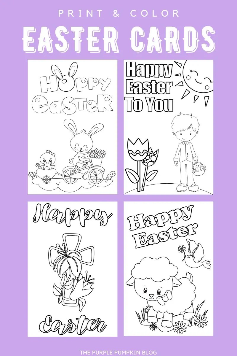 Print & Color Easter Cards
