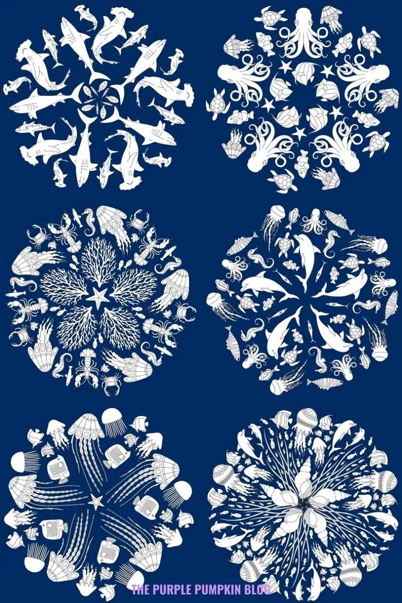 Ocean Mandalas To Color