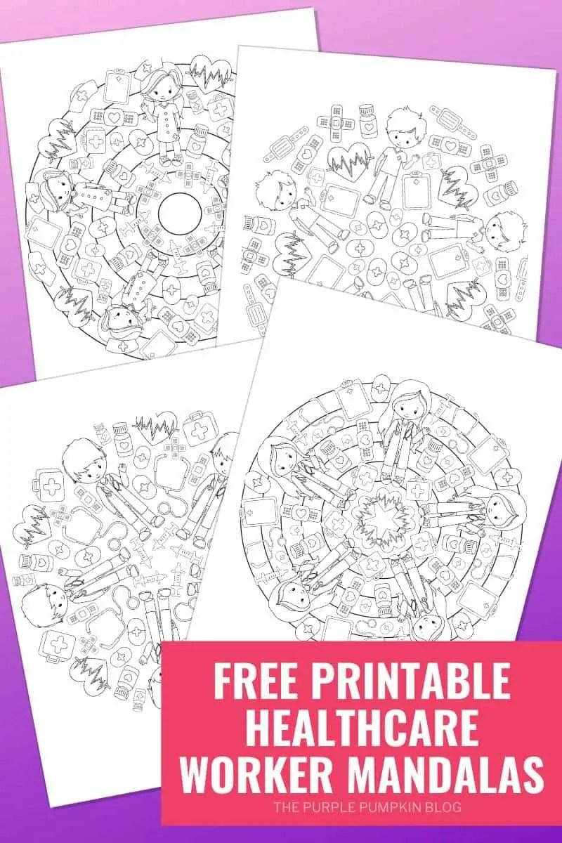 Free Printable Healtcare Worker Mandalas