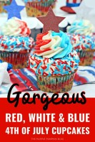 Gorgeous Red White & Blue 4th of July Cupcakes