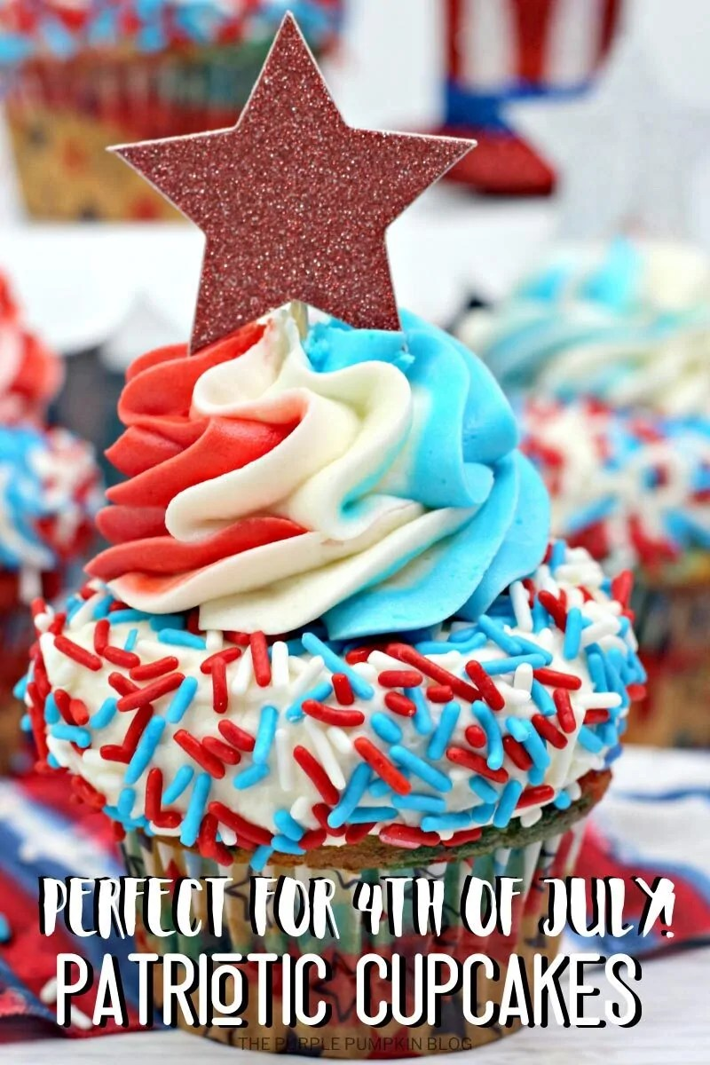 Perfect for 4th of July Patriotic Cupcakes