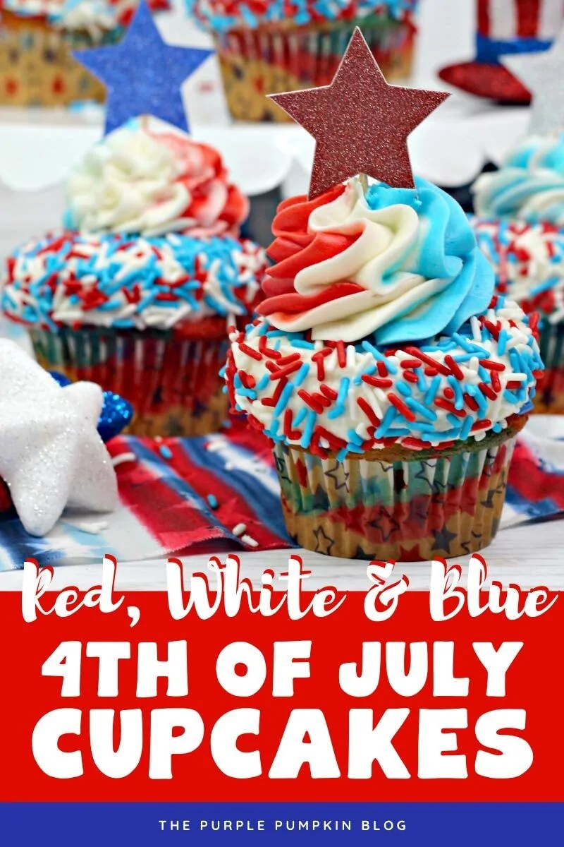 Red White & Blue 4th of July Cupcakes
