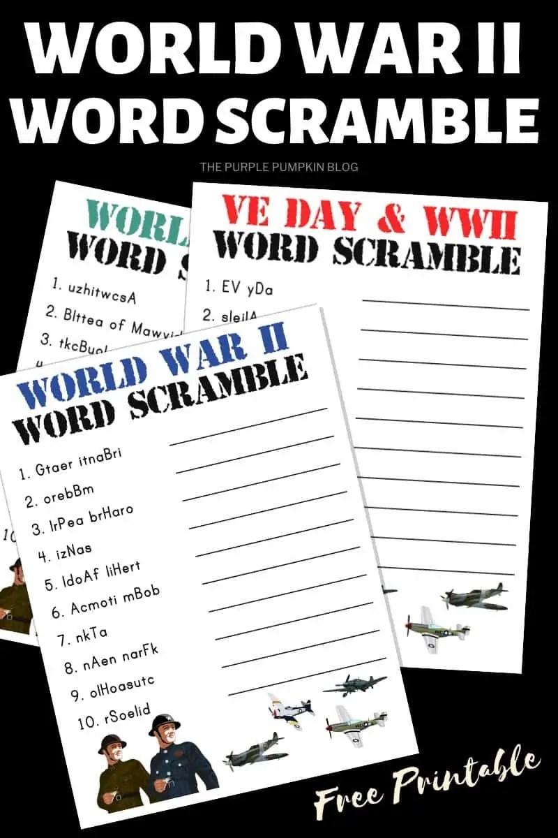 World War II Word Scramble