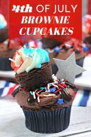 4th of July Brownie Cupcakes