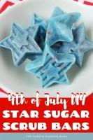 4th of July DIY Star Sugar Scrub Bars