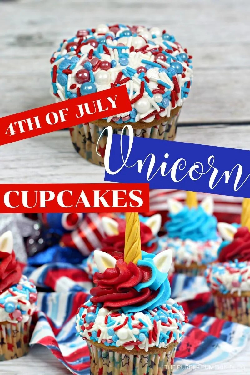 4th of July Unicorn Cupcakes
