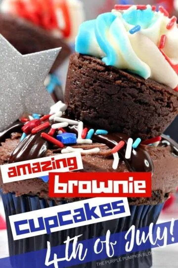 Amazing-Brownie-Cupcakes-for-4th-of-July