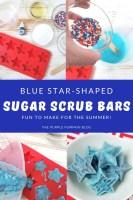 Blue Star-Shaped Sugar Scrub Bars