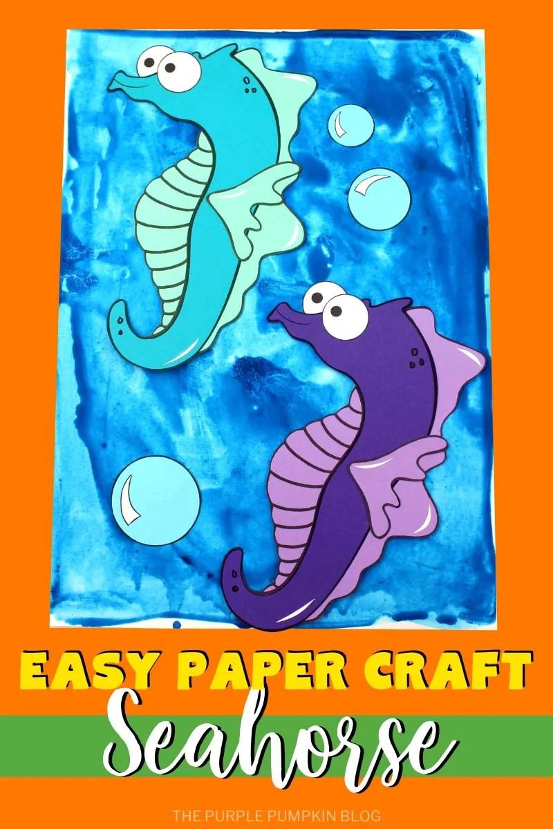 Easy Paper Craft Seahorse
