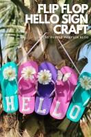 Flip Flop Hello Sign Craft