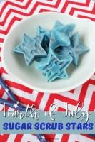 Fourth of July Sugar Scrub Stars