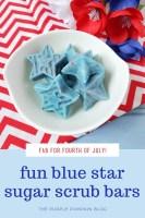 Fun Blue Star Sugar Scrub Bars