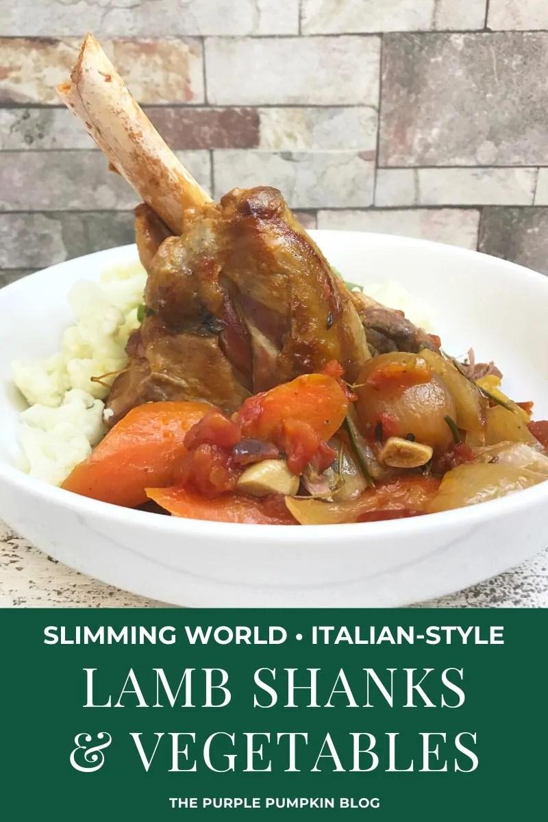 Slimming World, Italian-style Lamb Shanks & Vegetables