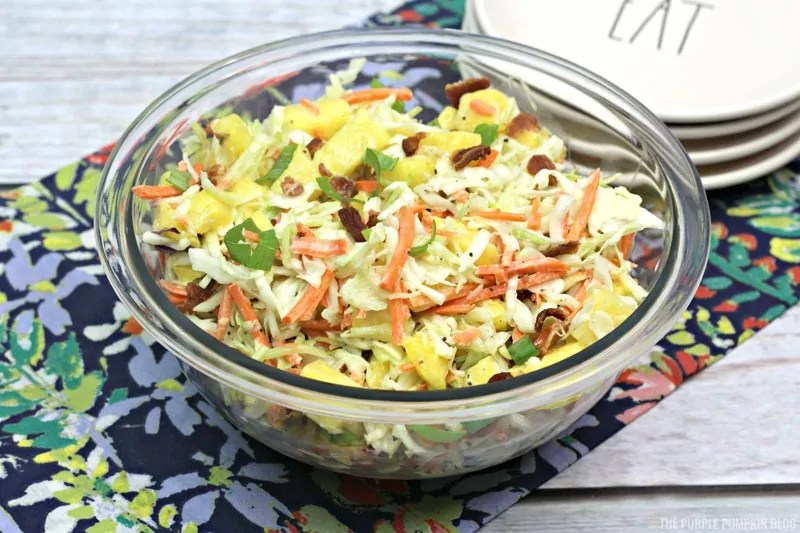 Finished pineapple coleslaw