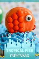 Orange Tropical Fish Cupcakes