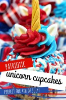 Patriotic Unicorn Cupcakes Perfect for 4th of July