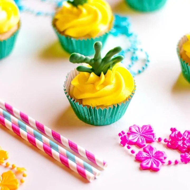 Coconut Pineapple Cupcakes with Rum
