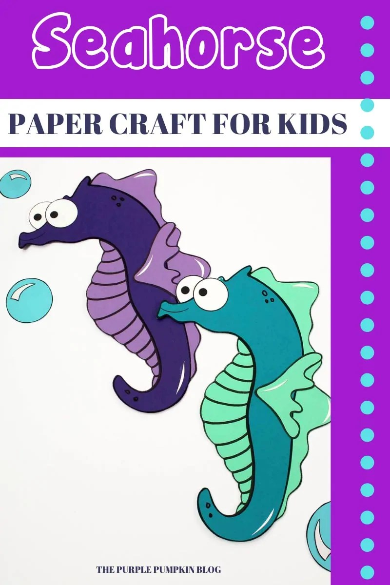 Seahorse - Paper Craft for Kids