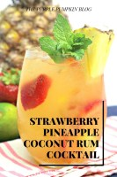 Strawberry Pineapple Coconut Rum Cocktail