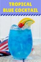 Tropical Blue Cocktail