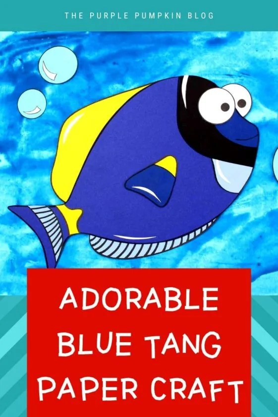 Adorable Blue Tang Paper Craft (Finding Dory!)