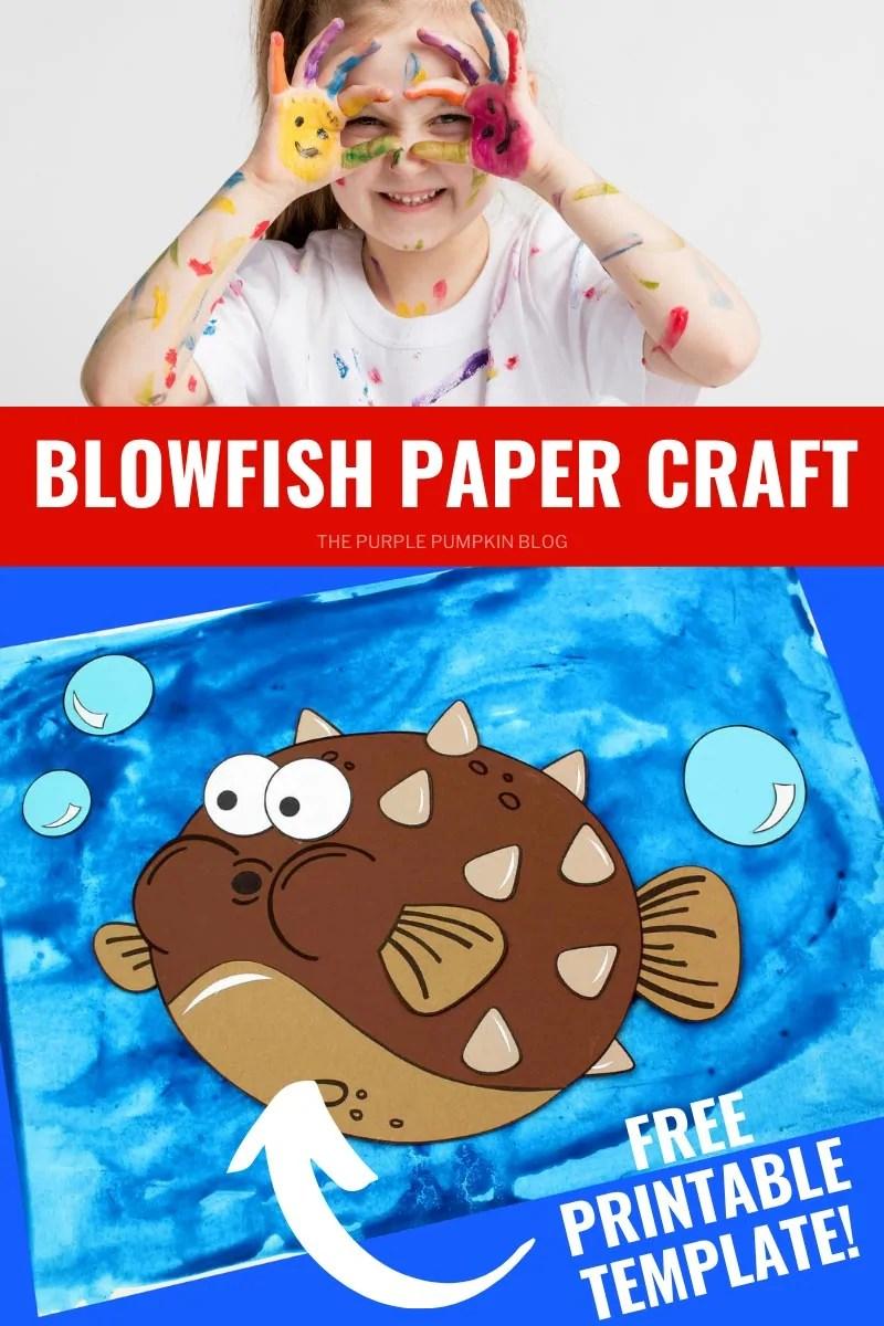 Blowfish Paper Craft - Free Printable Template