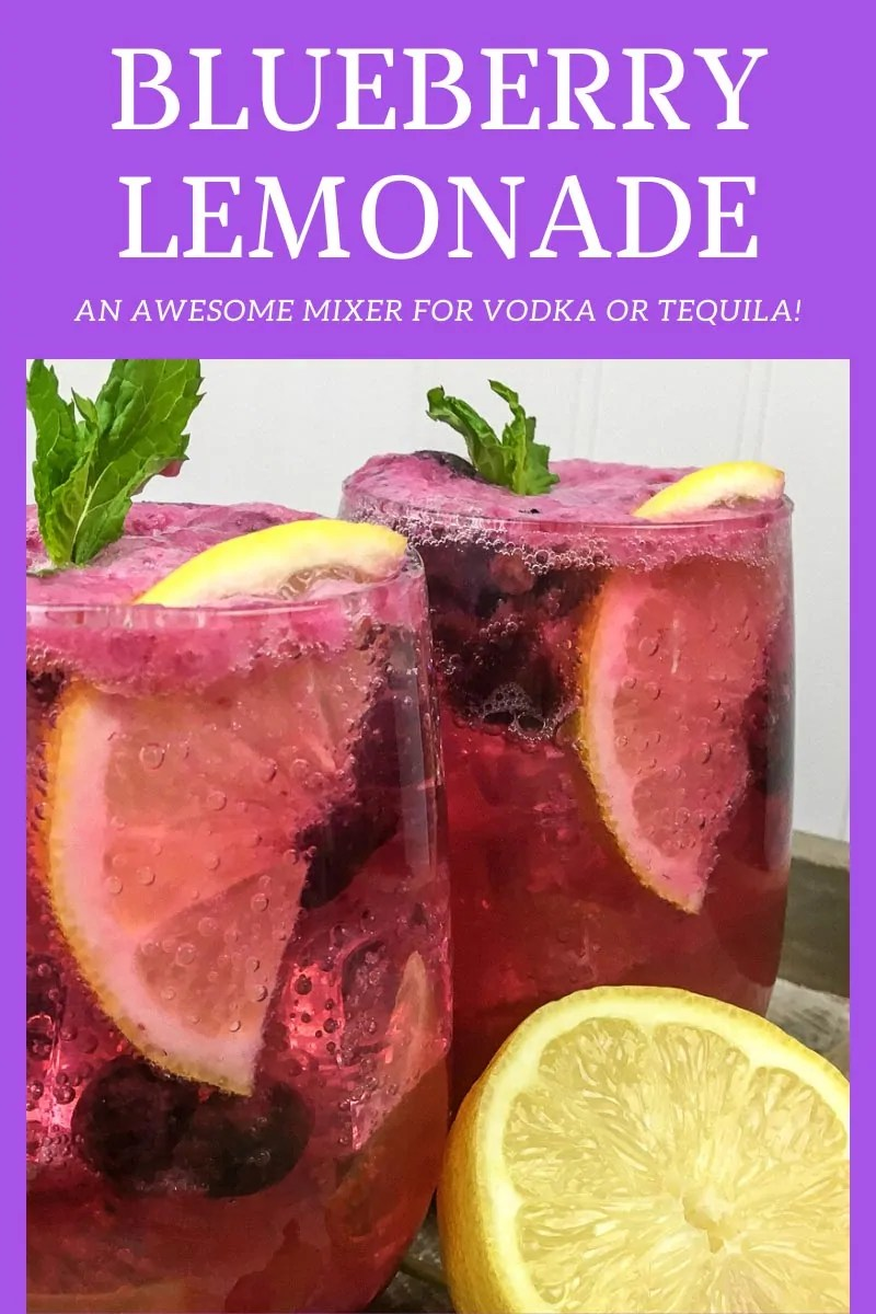 Blueberry Lemonade Mixer for Vodka or Tequila