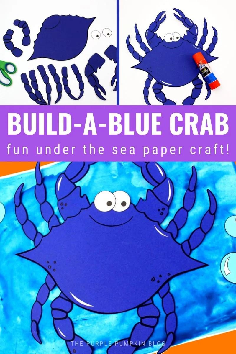 Build a Crab - Fun Under the Sea Paper Craft