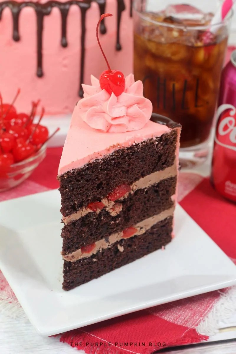 Cherry Coke Cake Slice