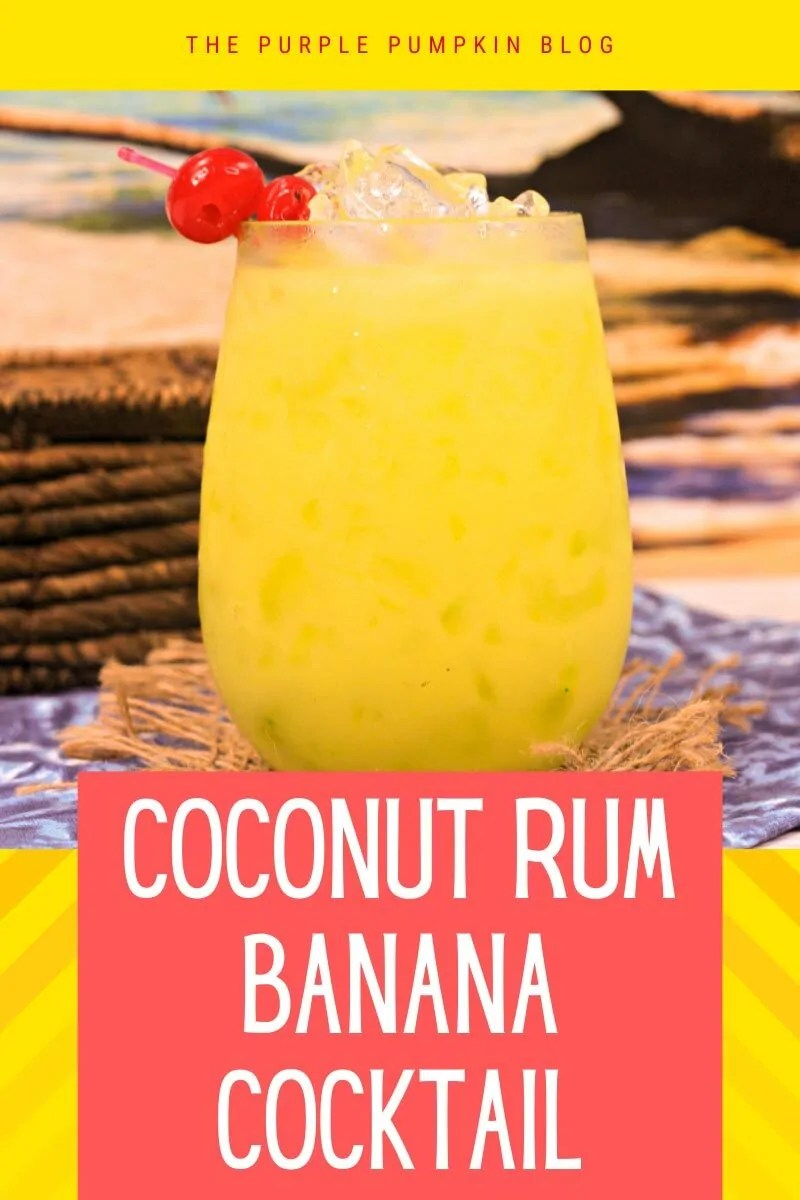 Coconut Rum Banana Cocktail