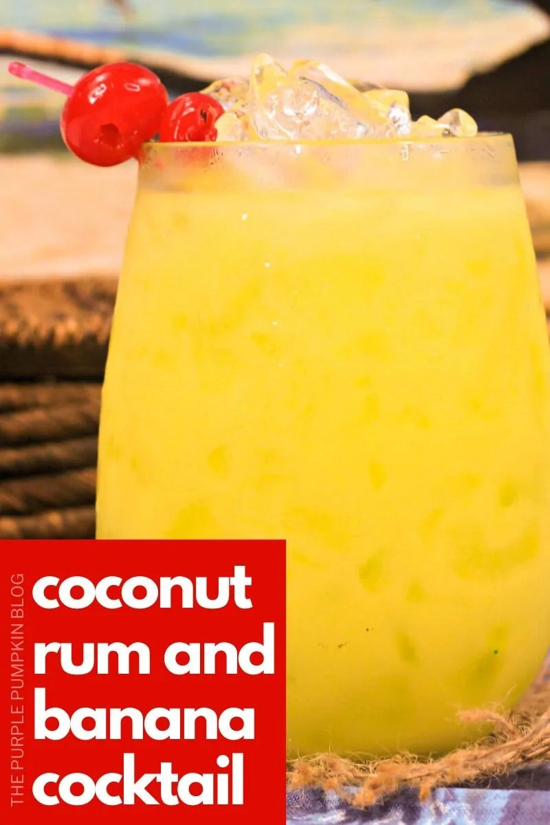 Coconut Rum and Banana Cocktail