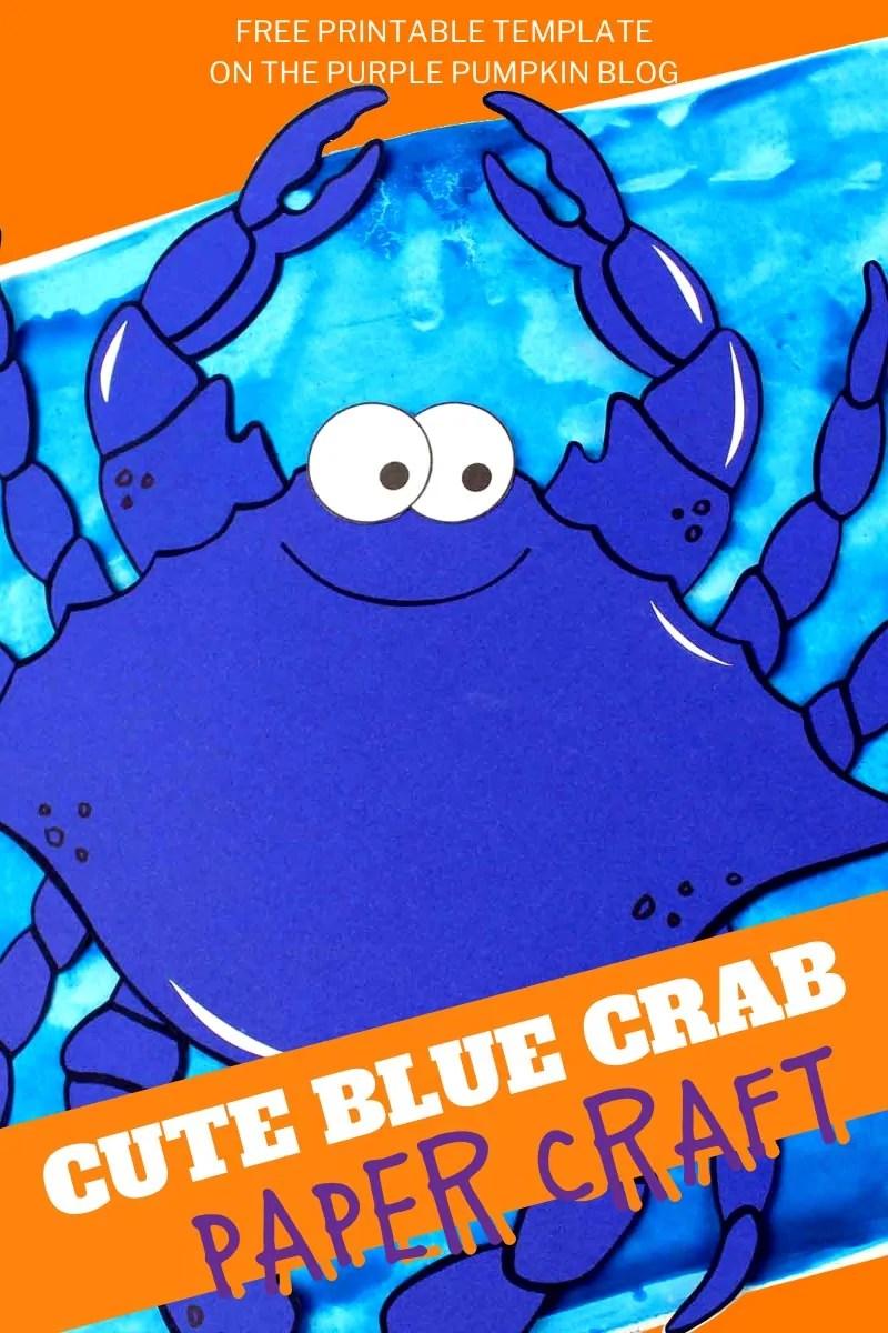 Cute Blue Crab Paper Craft