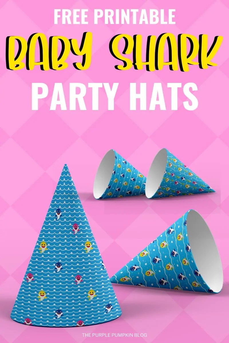 Free-Baby-Shark-Party-Hat-Printables