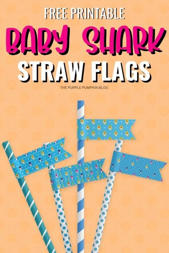Free-Printable-Baby-Shark-Straw-Flags