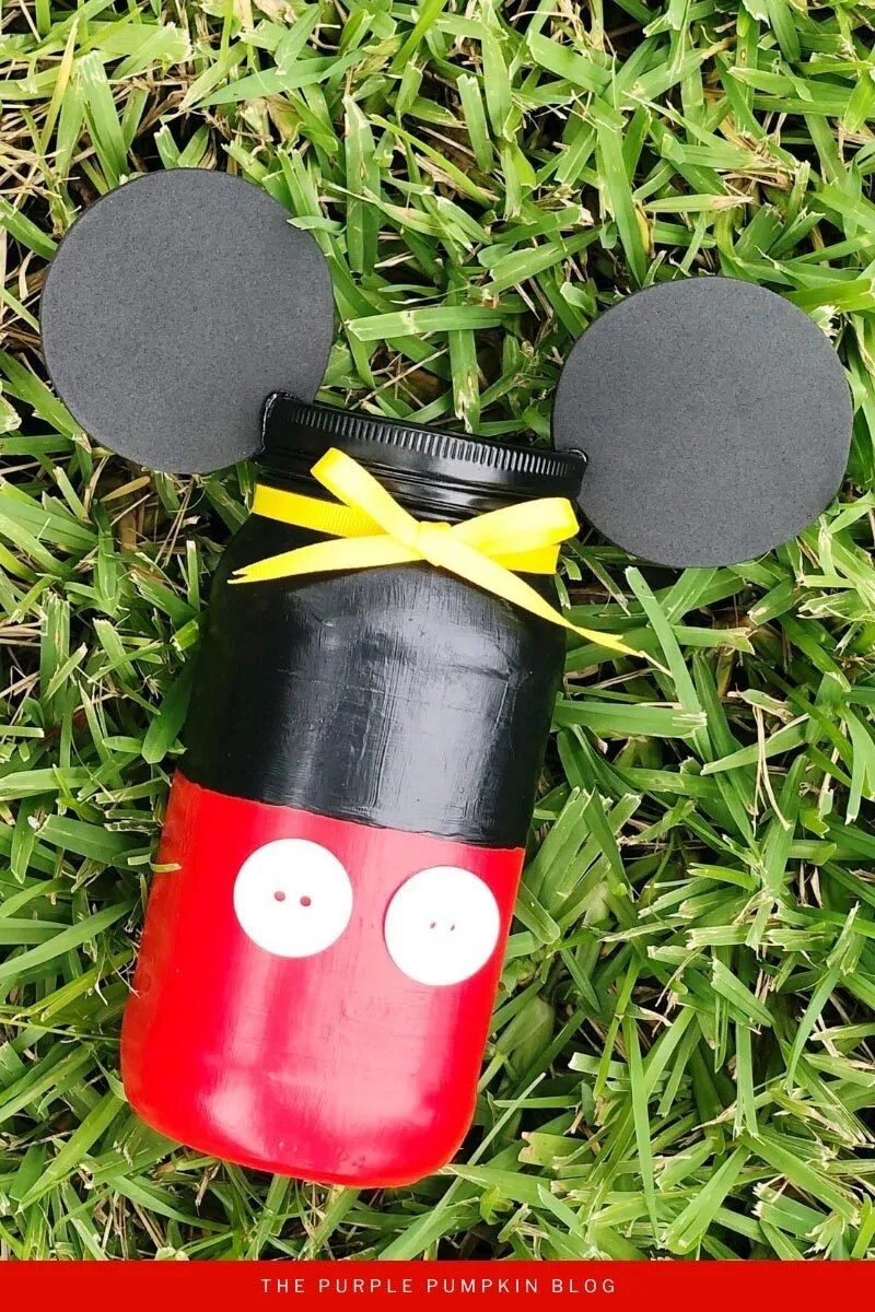 Mickey Mouse Jar Craft
