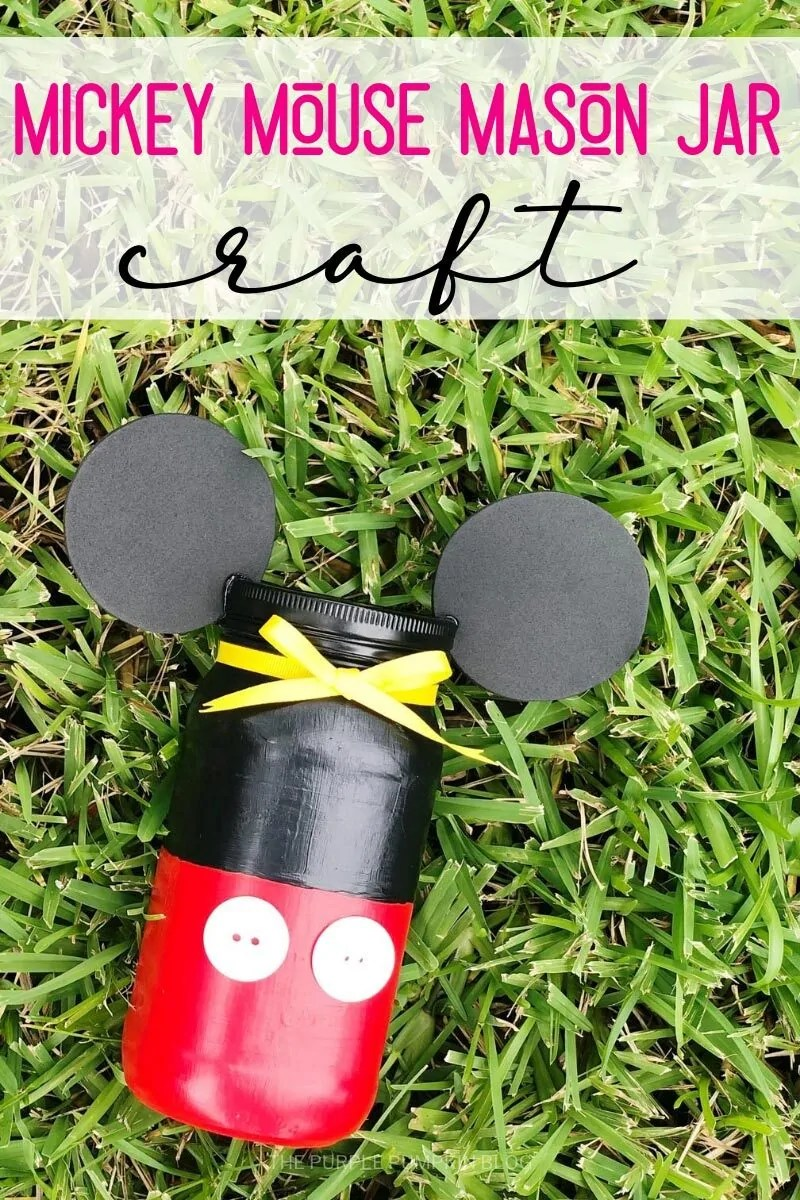 Mickey Mouse Mason Jar Craft
