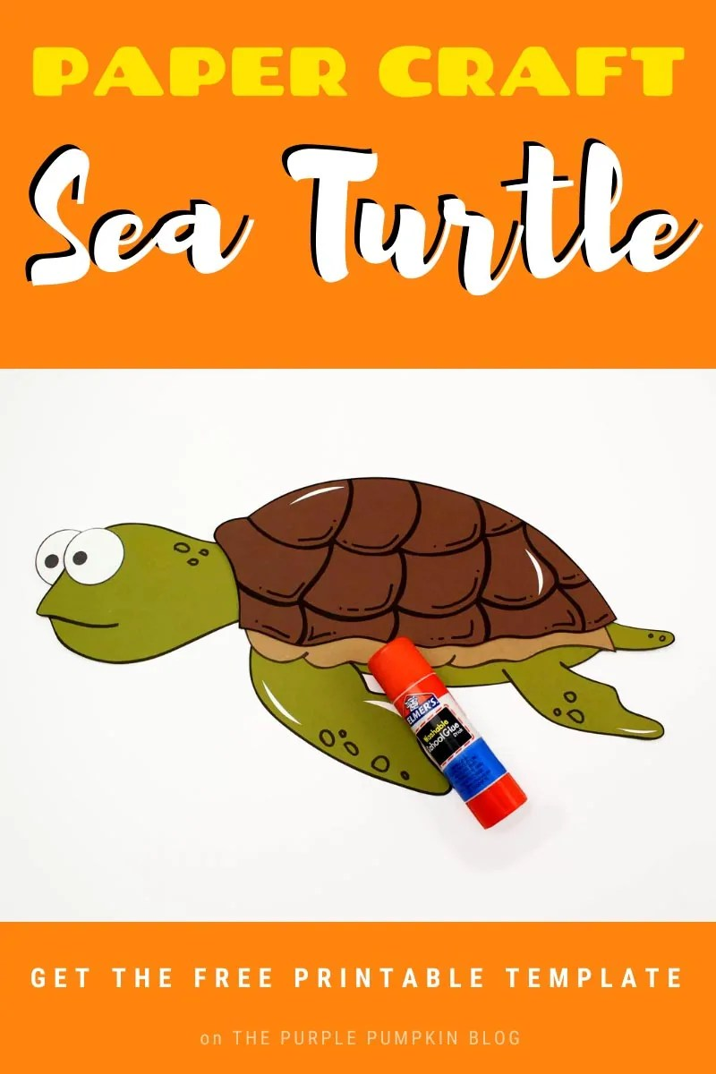 Paper Craft Sea Turtle with Free Printable Template