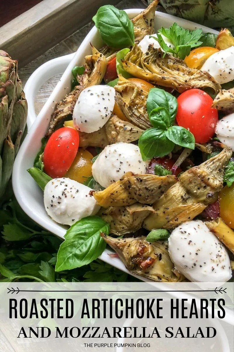 Roasted Artichoke Hearts and Mozzarella Salad